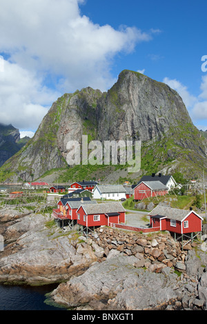 Hamnøy village, Lofoten islands, Norway, - Stock Photo