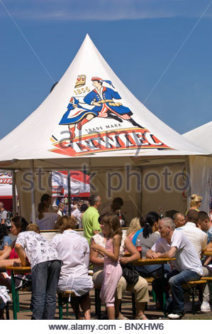 People Relax In A Bar On Kosciuszko Square By The Marina,  Gdynia, Poland - Stock Photo