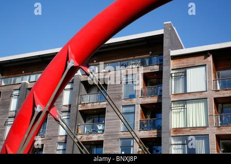 Omega Works apartment block on Fish Island, Hackney Wick, London, UK - Stock Photo