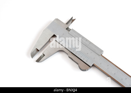 detail of calliper isolated on white background with clipping path - Stock Photo