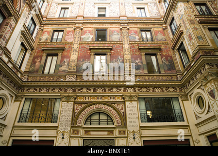 Italy, Rome, mural painted on building exterior - Stock Photo