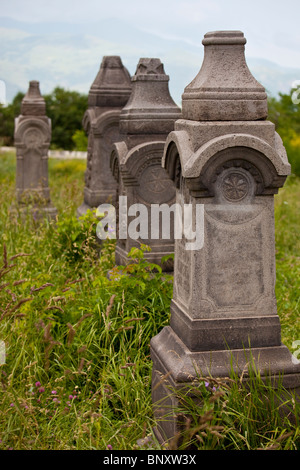 Cemetery at the 7th Century Odzun Church in Debed Canyon Armenia - Stock Photo