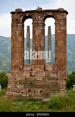 Ruins at the 7th Century Odzun Church in Debed Canyon Armenia - Stock Photo