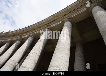 Colonnade of St. Peter's Square, Rome, Italy - Stock Photo