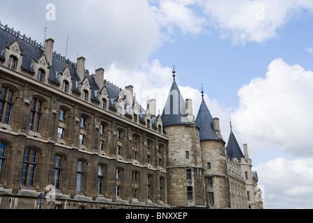 The Conciergerie, part of the Palais de Justice, Paris, France - Stock Photo