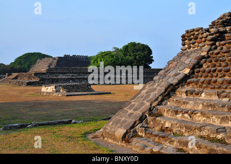 The historic town of La Antigua near Veracruz Mexico is the location of the ancient and historic Cempoala Ruins. - Stock Photo