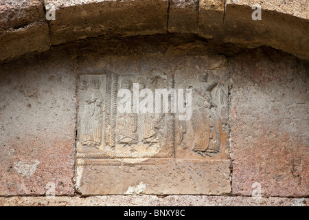 Detail on the 7th Century Odzun Church in Debed Canyon Armenia - Stock Photo