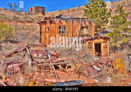 Cooper Ming Building Jerome Arizona - Stock Photo