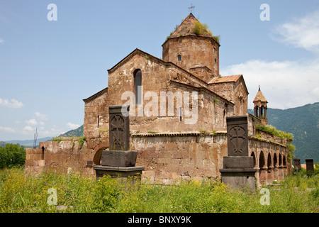 7th Century Odzun Church in Debed Canyon Armenia - Stock Photo