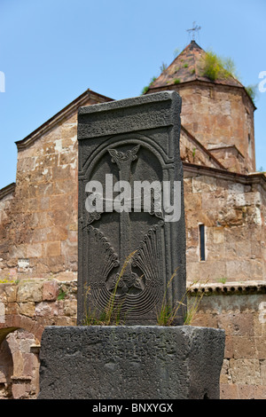 Armenian grave at the 7th Century Odzun Church in Debed Canyon Armenia - Stock Photo