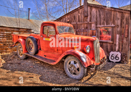 Old Truck at Cooper Mining Jerome Arizona - Stock Photo