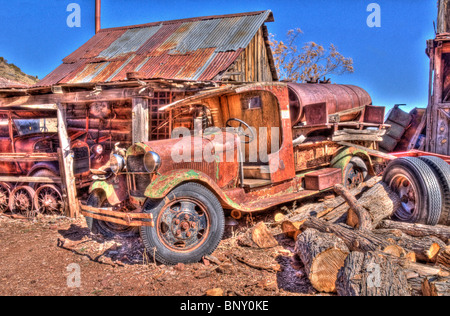 Old Fuel Truck Jerome Arizona - Stock Photo