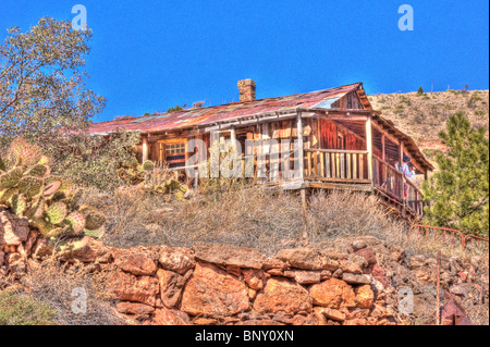 Cooper Mining Building Jerome Arizona - Stock Photo