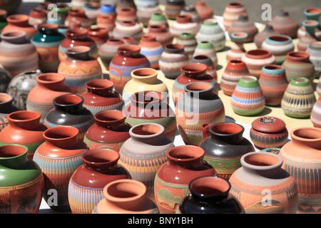 Native American Pottery, Santa Fe, New Mexico, USA - Stock Photo