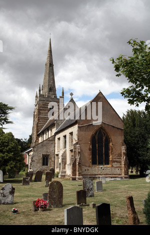All Saints Church, Ladbroke, Warwickshire; The village is close to the proposed route of the HS2 High Speed Rail - Stock Photo