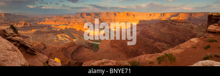 Sunrise, Dead Horse Point, Dead Horse State Park Park, Utah, USA - Stock Photo