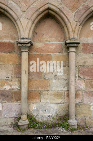 Close up architectural architecture details at Bolton Priory Wharfedale Yorkshire Dales UK - Stock Photo