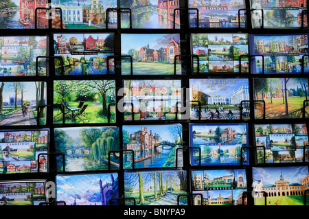Postcards for sale , Cambridge, England, UK - Stock Photo