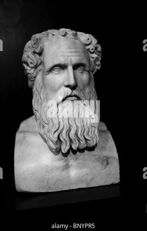 Early history collection of the Neue Museum 'New Museum' in Berlin-Portrait of the philosopher Zeno of Citium (Zenon - Stock Photo