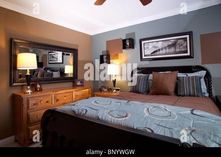 Male teenager bedroom - Stock Photo