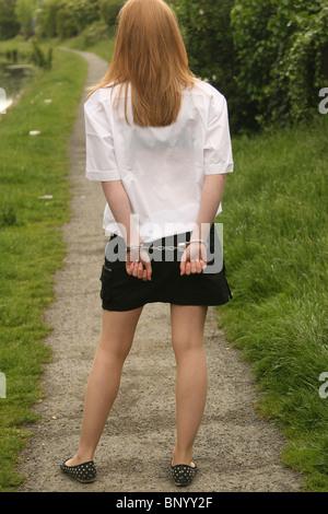 Teen girls in handcuffs — 14