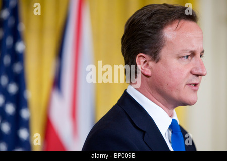 UK Prime Minister David Cameron participates in a Joint Press Conference at the White House. - Stock Photo