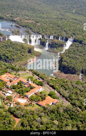 Iguazu Falls, border between Brazil and Argentina, South America - Stock Photo