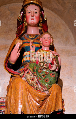 Spain, St. James Way: Saint Mary with boy Jesus in the Museum of the Cathedral Santa Maria in Burgos - Stock Photo