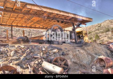 Lumber Saw Mill Jerome Arizona - Stock Photo
