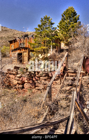 Jerome Arizona cooper mining building - Stock Photo