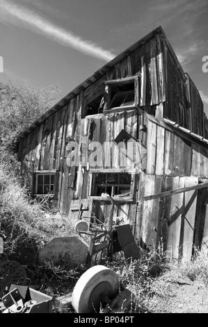 Cooper mine building Jerome Arizona - Stock Photo