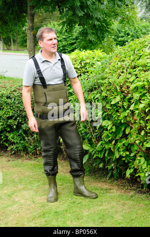 Man Wearing Waders . - Stock Photo