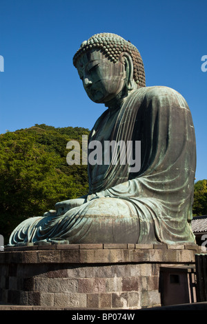 The Great Buddha of Kamakura, or 'Daibutsu' is Kamakura's most famous attraction. - Stock Photo
