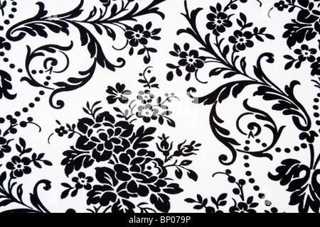 Black & white Seamless Floral Pattern - Stock Photo