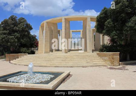 Monument to US President John F Kennedy, Kennedy Grove, Qawra, Buġibba, Salina Bay, St Paul's Bay, Malta, Mediterranean, Europe