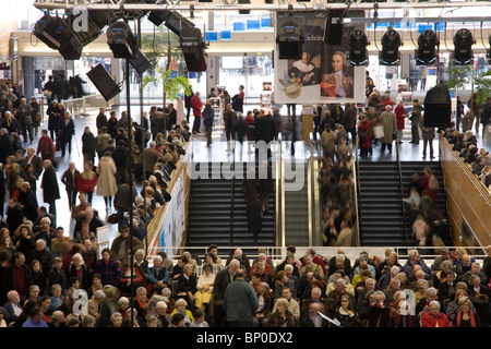 France, Pays de la Loire, Loire Atlantique, Nantes, cité des Congrès, crowd in hall - Stock Photo