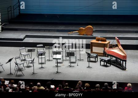 France, Pays de la Loire, Loire Atlantique, Nantes, cité des Congrès, empty stage - Stock Photo