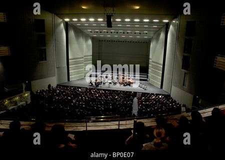 France, Pays de la Loire, Loire Atlantique, Nantes, cité des Congrès, musicians on stage - Stock Photo