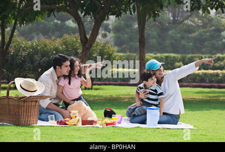 Family at a picnic - Stock Photo