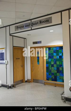 Prayer and quiet, room, Edinburgh Airport, Scotland, UK, 'Great Britain' - Stock Photo