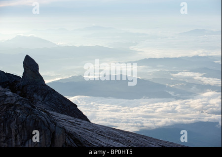 South East Asia, Malaysia, Borneo, Sabah, Kinabalu National Park, Malaysias highest mountain (4095m) - Stock Photo