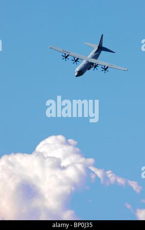 Military plane, Lockheed Hercules C130 - Stock Photo
