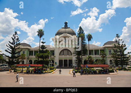 Mozambique, Maputo. The old railway station, built by Eiffel in the 1870s - Stock Photo