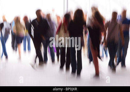 France, Paris, crowd - Stock Photo