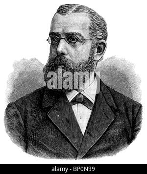 Robert Koch, German physician, discoverer of the tubercle and cholera bacilli, Nobel Prize in Medicine laureate in 1905