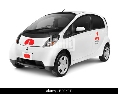 2010 Mitsubishi i kei car small city car isolated on white background with clipping path - Stock Photo