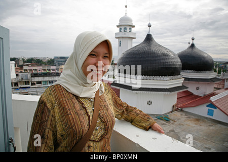 Painet kc4453 woman female women females indonesia great mosque banda aceh 2 the of years after tsunami 2007 asia - Stock Photo