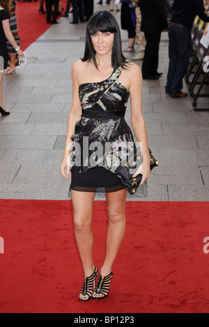 Linzi Stoppard at the UK Premiere of 'The Expendables', Leicester Square, London. - Stock Photo