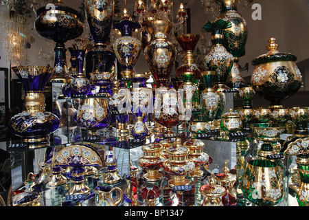 Czech Republic, Prague, handicraft shop window - Stock Photo