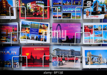 Postcards for sale, London, England, UK - Stock Photo